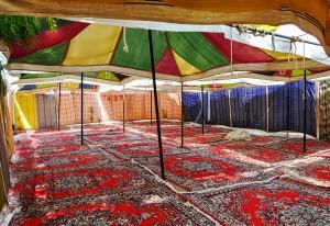 Keadaan dalam khemah jemaah di arafah