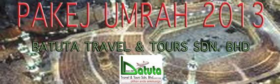 Skim Umrah Batuta bagi Tahun 1434H / 2013M telah dibuka untuk jualan